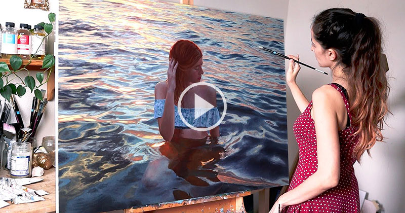 It Took Lena Danya 2 Years to Finish This Oil Painting and She Made a Timelapse of the Entire Process