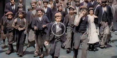 Laborers in Victorian England, 1901 Colorized and Upscaled to 60 FPS