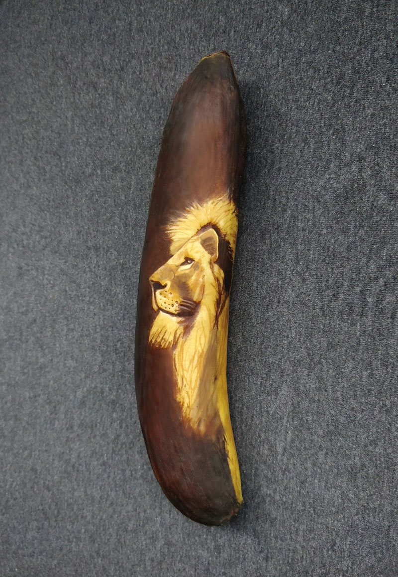 bruised banana art by anna chojnicka 23 Amazing Banana Art Made by Poking and Bruising the Skin, No Ink is Used
