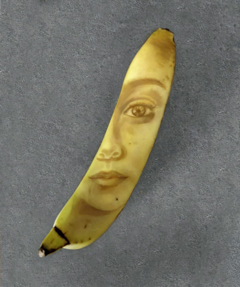 bruised banana art by anna chojnicka 28 Amazing Banana Art Made by Poking and Bruising the Skin, No Ink is Used