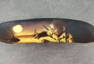 Amazing Banana Art Made by Poking and Bruising the Skin, No Ink is Used