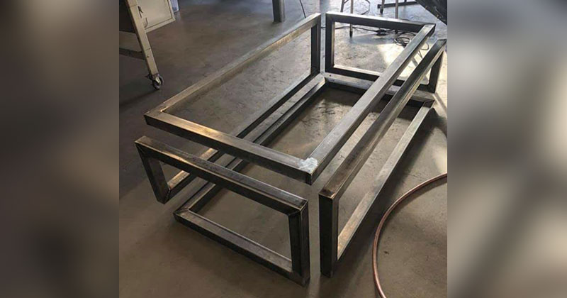 Infinity Coffee Table in the Making by Logan Wilson