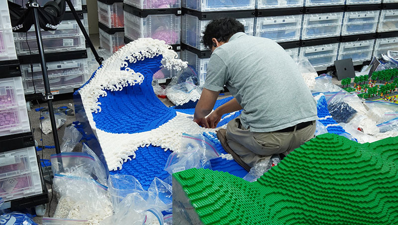 lego great wave off kanagawa jumpei mitsui 6 The Worlds Youngest Ever Lego Certified Professional Just Made this 50,000 piece Great Wave