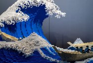 The World's Youngest-Ever Lego Certified Professional Just Made this 50,000 piece Great Wave