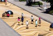 Amazing Street Mural Turns Pedestrian Walkway Into Giant Undulating Sand Dune
