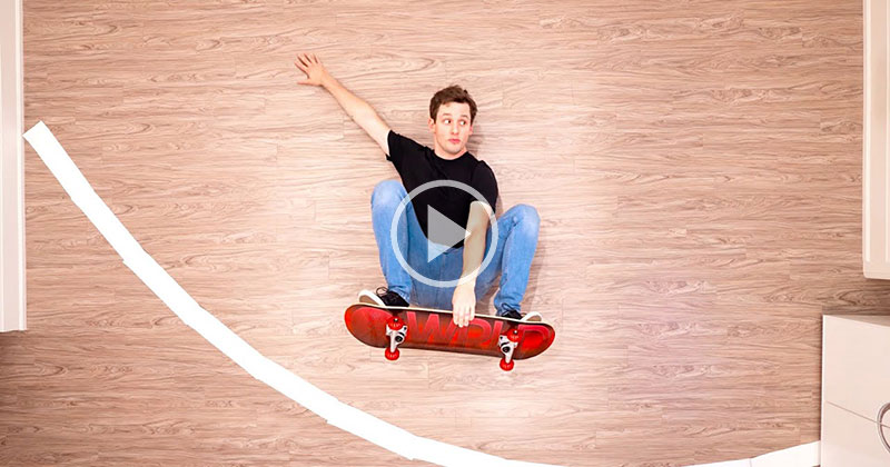 This Stop-Motion, Living Room Skateboard Session is Awesome