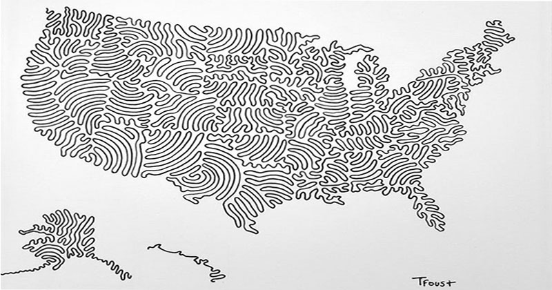 A Map of the USA Drawn with Just 3 Lines