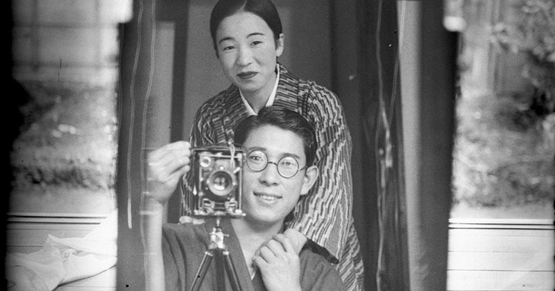 A Mirror Selfie from Japan circa 1920