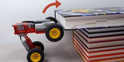 Modifying a Lego Car to Climb Progressively More Challenging Obstacles
