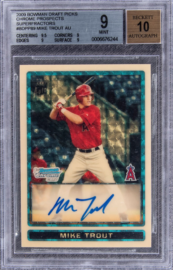 mike trout signed rookie card most expensive These are the Most Expensive Trading Cards Ever Sold