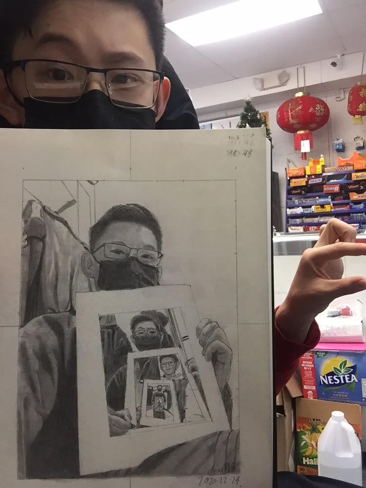 recursive self portraits by xiao mein reddit 4 Talented Teen Draws 7 Levels of Recursive Self Portraits