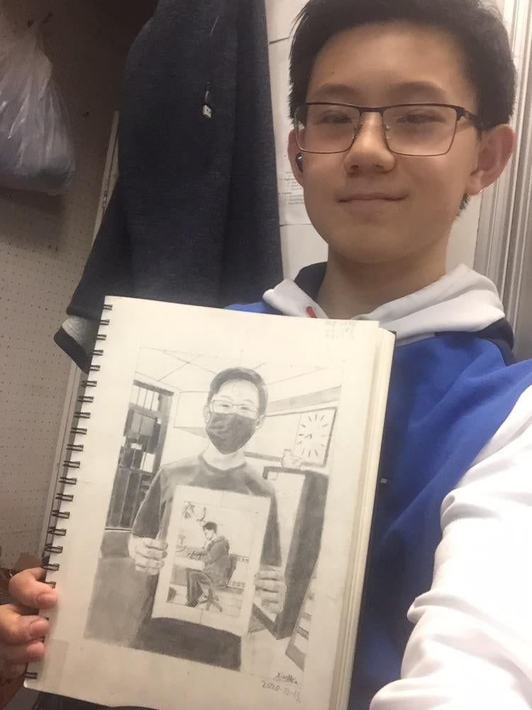 recursive self portraits by xiao mein reddit 7 Talented Teen Draws 7 Levels of Recursive Self Portraits