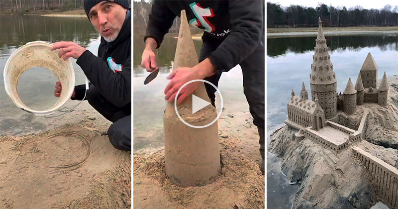 Amazing Artist Recreates Hogwarts Out of Sand