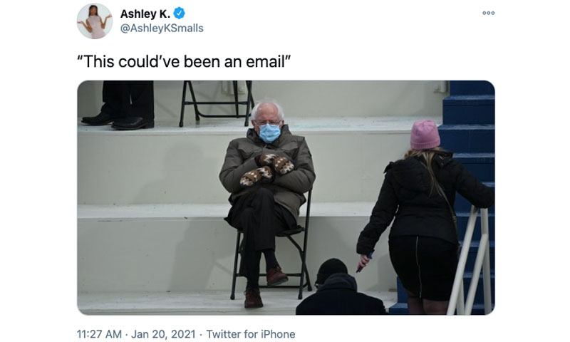 this could have been an email bernie The Shirk Report – Volume 614