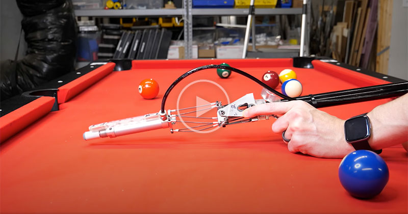 This Guy Built an Automatic Pool Cue and Gave It a Brain to Eventually Become Unbeatable