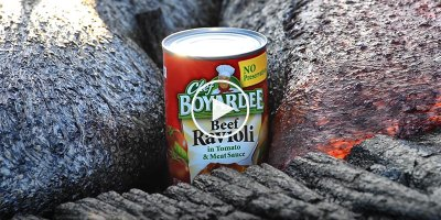 Just a Can of Ravioli Being Slowly Engulfed by Lava
