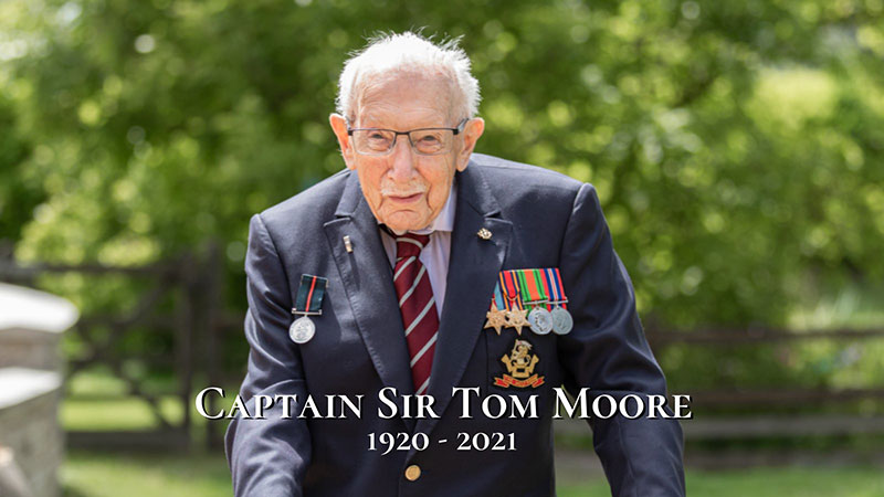 captain sir tom moore 2 Captain Tom, the Pandemic Hero that Raised $50m for the NHS, Dies at 100