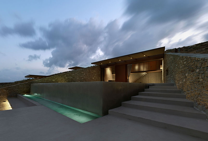 house built into cliff n caved by mold architects 10 Check Out this Ambitious House Built Into a Cliffside in Greece