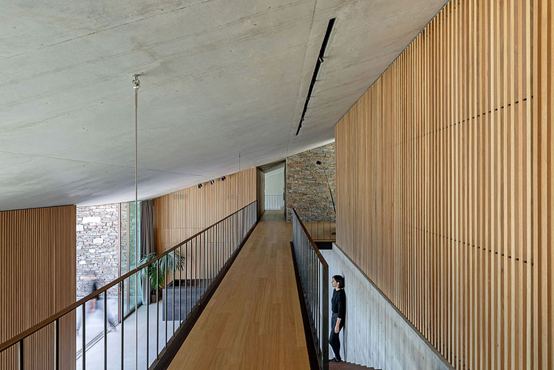 house built into cliff n caved by mold architects 15 Check Out this Ambitious House Built Into a Cliffside in Greece