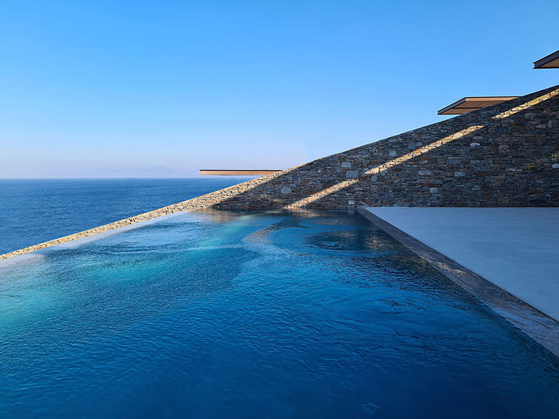 house built into cliff n caved by mold architects 22 Check Out this Ambitious House Built Into a Cliffside in Greece