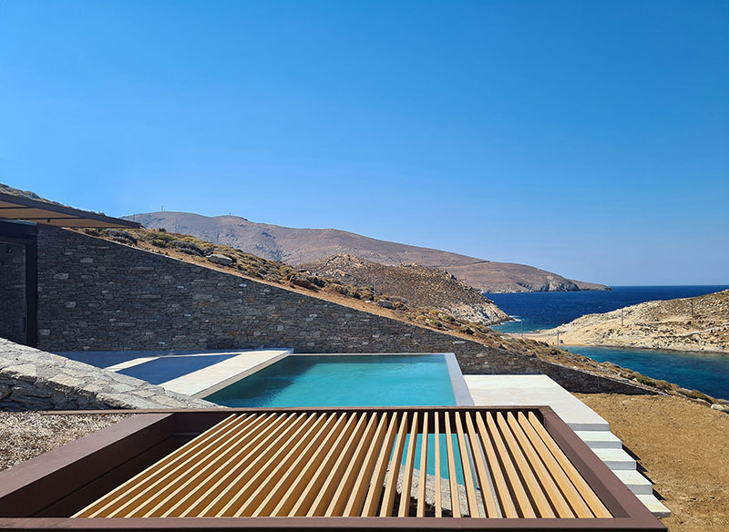 house built into cliff n caved by mold architects 23 Check Out this Ambitious House Built Into a Cliffside in Greece