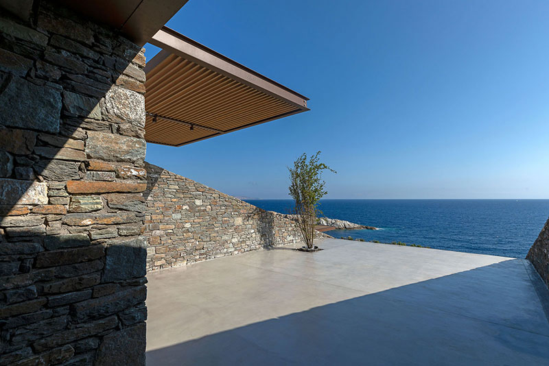 house built into cliff n caved by mold architects 24 Check Out this Ambitious House Built Into a Cliffside in Greece