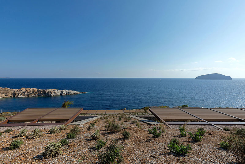 house built into cliff n caved by mold architects 30 Check Out this Ambitious House Built Into a Cliffside in Greece