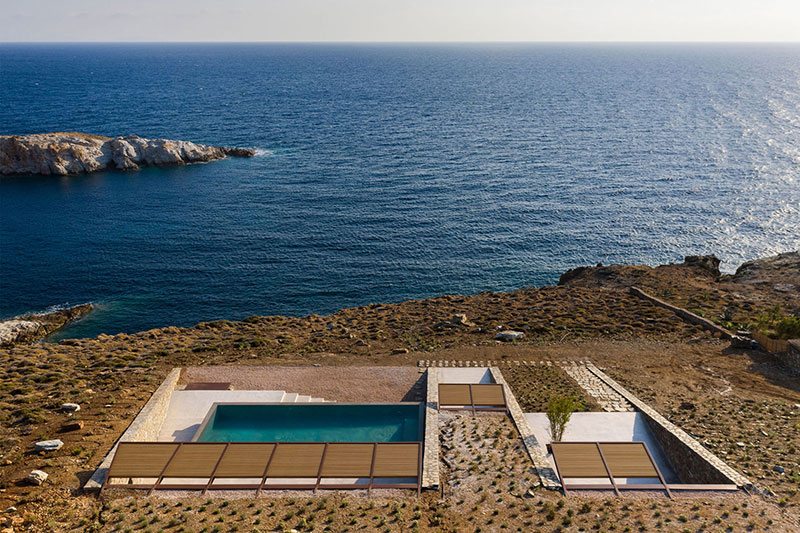 house built into cliff n caved by mold architects 31 Check Out this Ambitious House Built Into a Cliffside in Greece