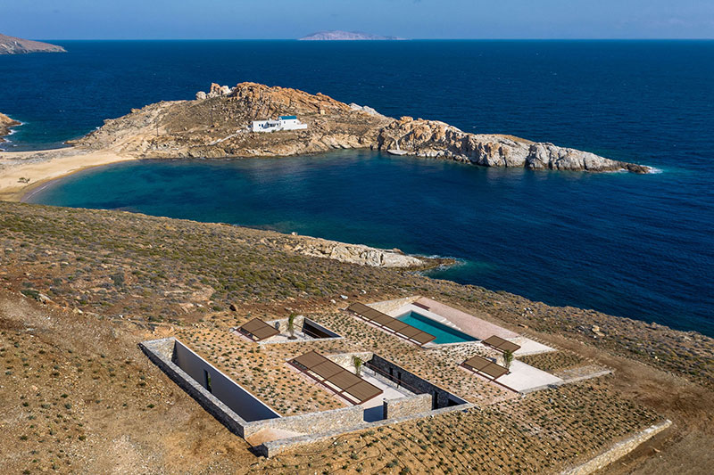 house built into cliff n caved by mold architects 6 Check Out this Ambitious House Built Into a Cliffside in Greece