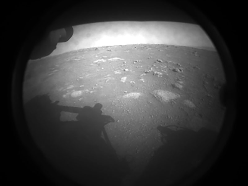 perseverance rover first image from mars nasa This is NASAs Perseverance Rovers First Image from Mars