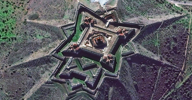 This Portuguese Star Fort From Above