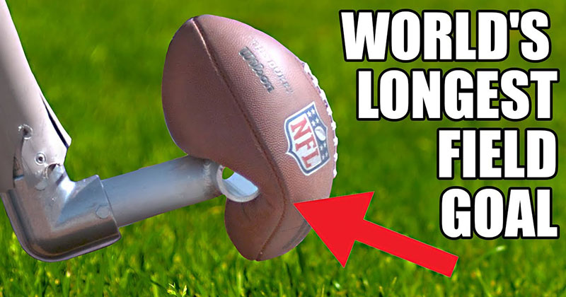 World's Longest Field Goal – Robot vs NFL Kicker