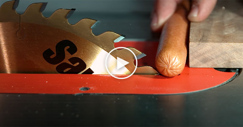 Seeing a Sawstop in Action at 19,000 FPS is Remarkable