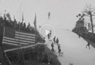 Amazing Footage Restored and Upscaled from a 1939 Ski Jumping Comp in New Hampshire
