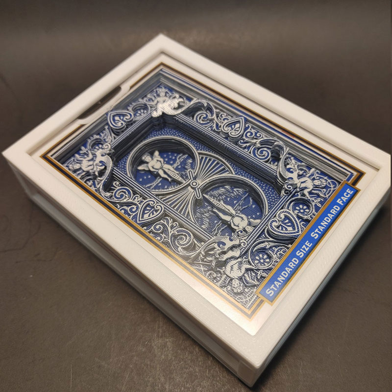 3D Card Sculpture Made by Cutting and Stacking an Entire Deck 4 A 3D Card Sculpture Made by Carefully Cutting and Stacking an Entire Deck