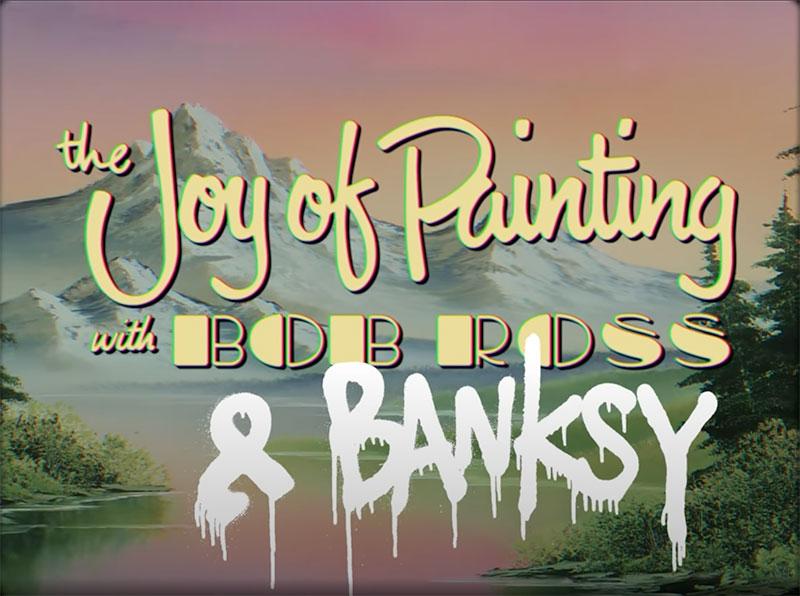 banksy bob ross prison escape street art oscar wilde reading uk 1 Banksy Channels His Inner Bob Ross in Oscar Wilde Prison Escape Artwork