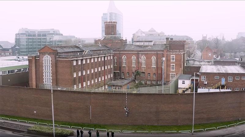 banksy bob ross prison escape street art oscar wilde reading uk 4 Banksy Channels His Inner Bob Ross in Oscar Wilde Prison Escape Artwork