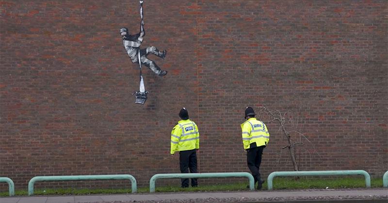 Banksy Channels His Inner Bob Ross in Oscar Wilde Prison Escape Artwork