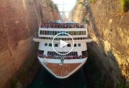 Drone Captures Cruise Ship Narrowly Passing Through the World's Deepest Canal