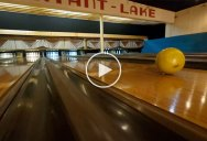 This Bowling Alley Fly Through is One of Coolest Drone Sequences You'll See