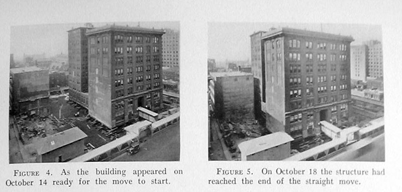 indiana bell building move 1930 1 In 1930 the Indiana Bell Building was Rotated 90° While Everyone Inside Still Worked