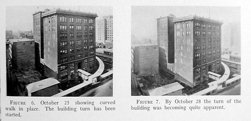 indiana bell building move 1930 2 In 1930 the Indiana Bell Building was Rotated 90° While Everyone Inside Still Worked