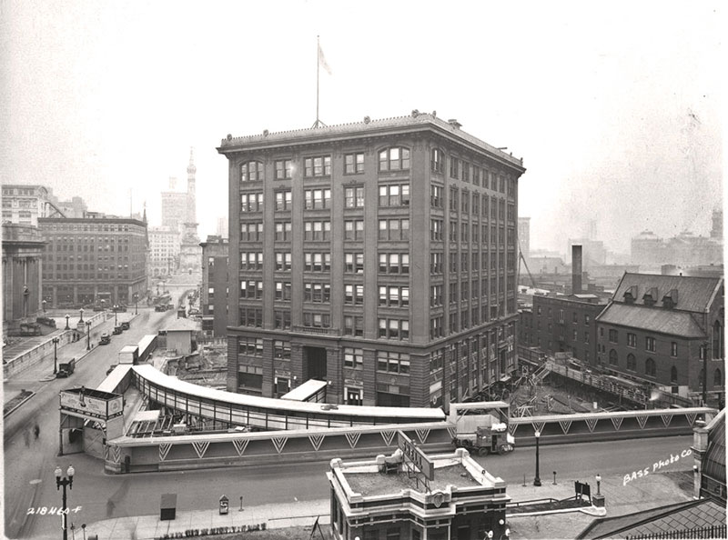 indiana bell building2 In 1930 the Indiana Bell Building was Rotated 90° While Everyone Inside Still Worked
