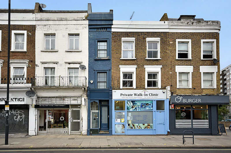 skinniest narrowest house in london 11 The Skinniest House in London (14 Photos)