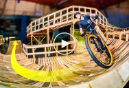 An Amazing POV Ride Through the World's Longest Indoor MTB Trail