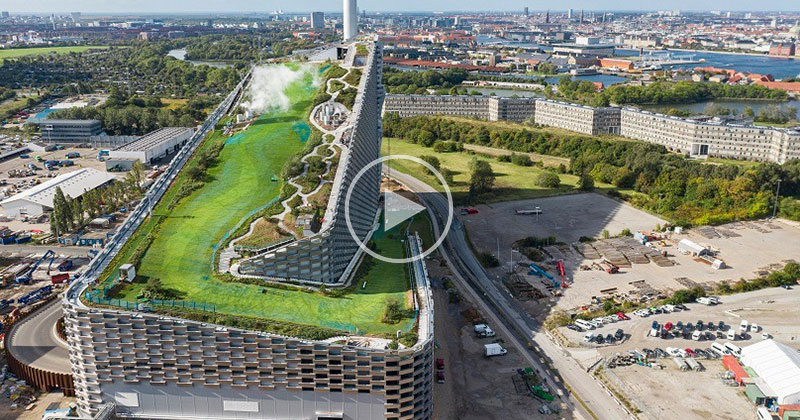 The 'Snowless' Ski Slope on the Roof of a Power Plant in the Heart of Copenhagen