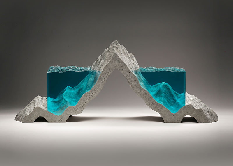 glass wave sculptures by ben young 1 Incredible Glass Wave Sculptures by Ben Young