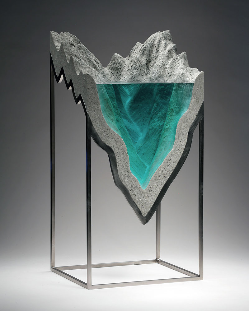 glass wave sculptures by ben young 16 Incredible Glass Wave Sculptures by Ben Young