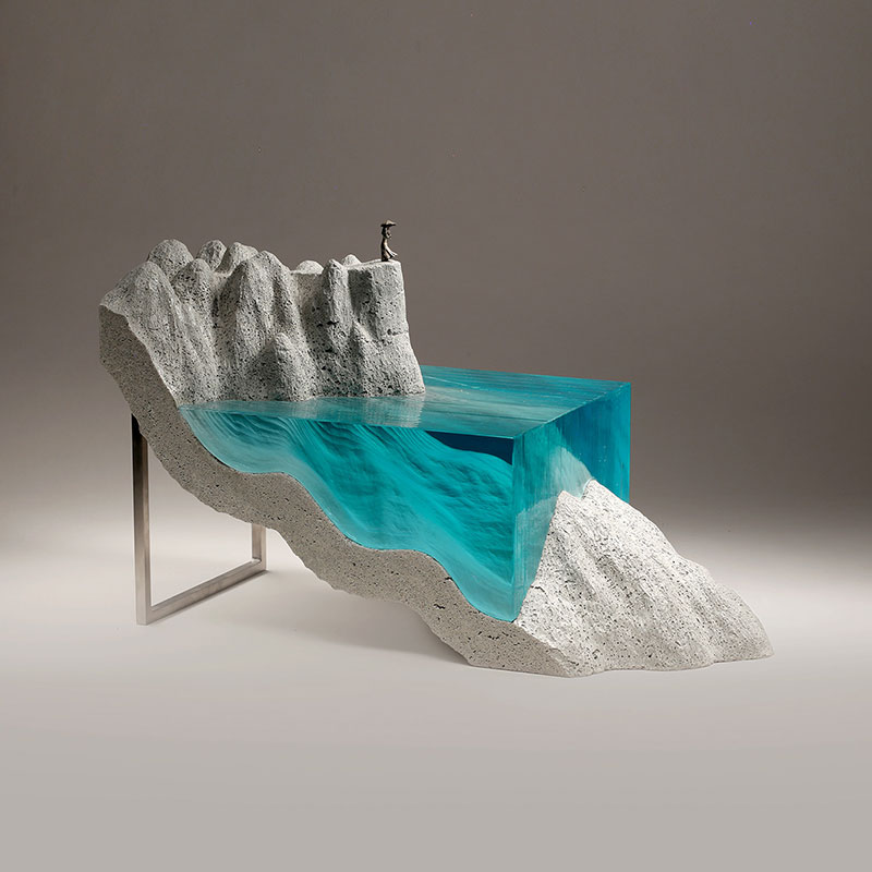 glass wave sculptures by ben young 4 Incredible Glass Wave Sculptures by Ben Young