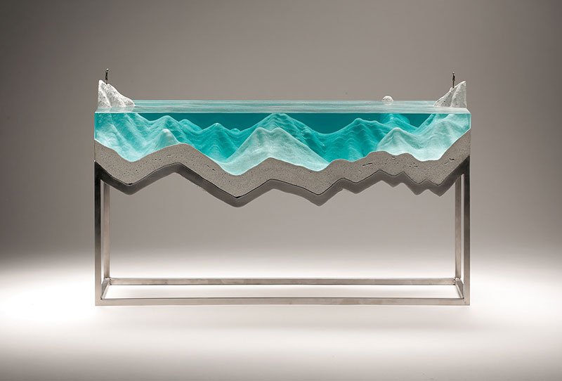 glass wave sculptures by ben young 9 Incredible Glass Wave Sculptures by Ben Young
